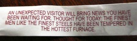 fortune cookie motto