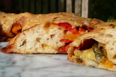 olive oil dough, taleggio, grilled vegetables