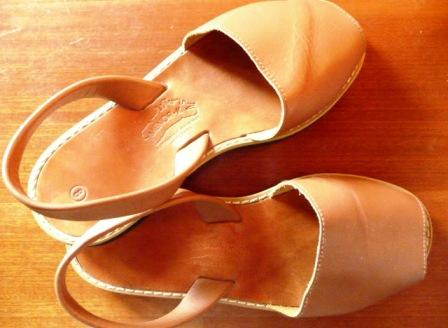 Avarcas, or Abarcas; artisanal leather sandals from Menorca