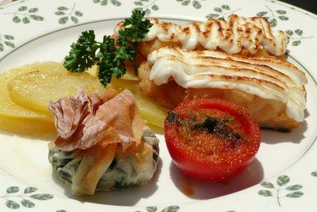 Cod with alioli at Cafe Balear, Ciutadella, Menorca