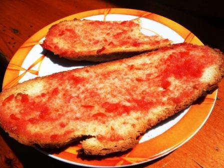 pa amb tomat, at Sa Nacra, Menorca
