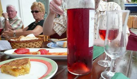 dirty looks, glasses & dishes at the Cafe Baixamar, Mahon